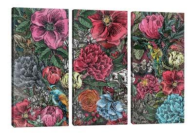 5D картина «Птицы в ярких цветах»