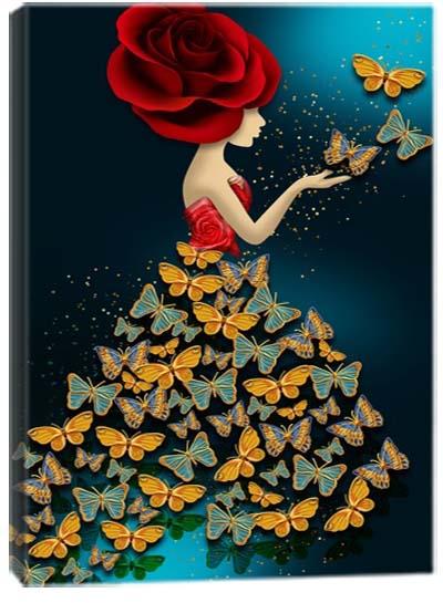 5D картина «Леди Баттерфляй. Арт 1»