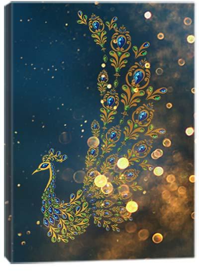 5D картина «Золотые павлины. Арт 3»