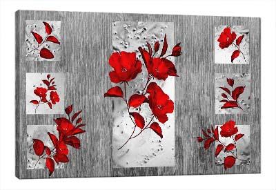 5D картина «Багровые цветы»