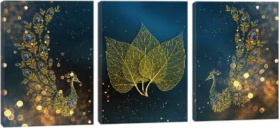 5D картина «Золотые павлины»