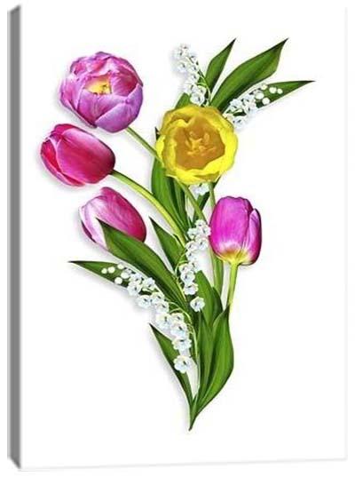 5D картина «Объемные тюльпаны. Арт 2»