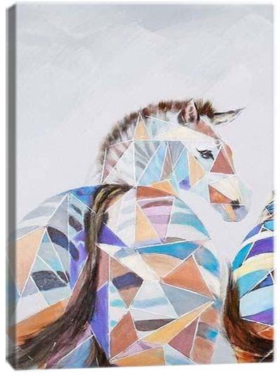 5D картина «Витражные зебры. Арт 1»