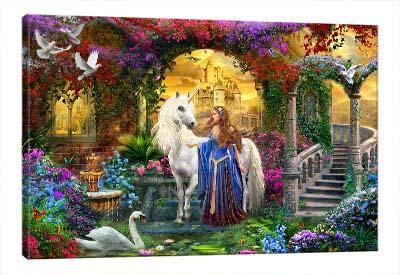 5D картина «Единорог принцессы»
