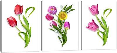5D картина «Объемные тюльпаны»