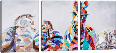 5D картина «Витражные зебры»