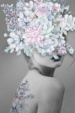3D фотообои 5D картина «Невинная красота. Арт 1» вид 1