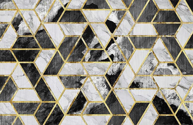 3D Ковры 3D Ковер «Мраморная мозаика» вид 1