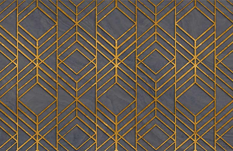3D Ковры 3D Ковер «Переплетения золотом» вид 1