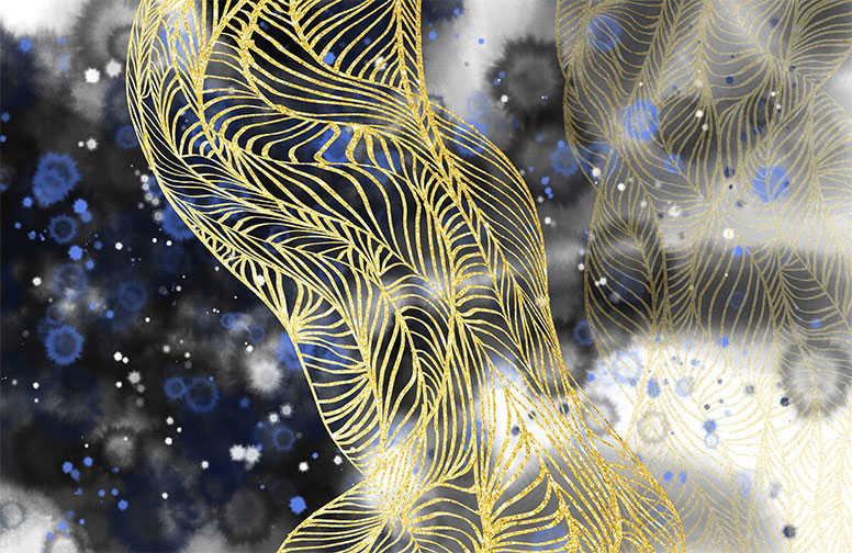 3D Ковры 3D Ковер «Сверкающая паутина» вид 1