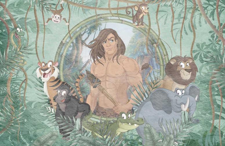 3D Ковры 3D Ковер «Тарзан и обитатели джунглей» вид 1