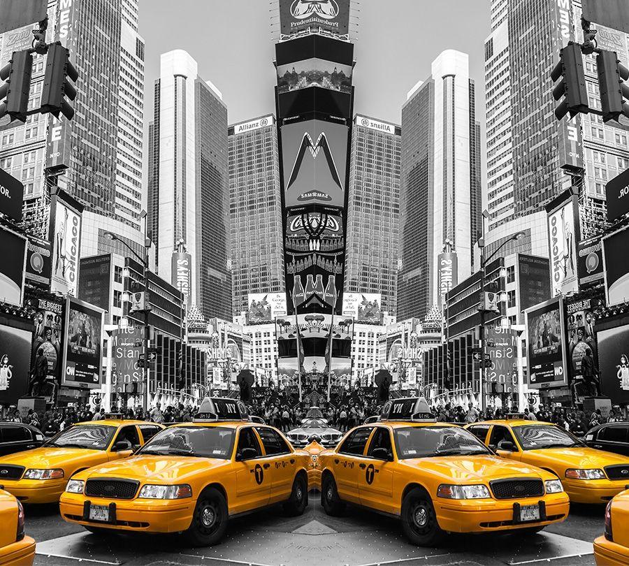 Фотошторы «Желтые такси» вид 1