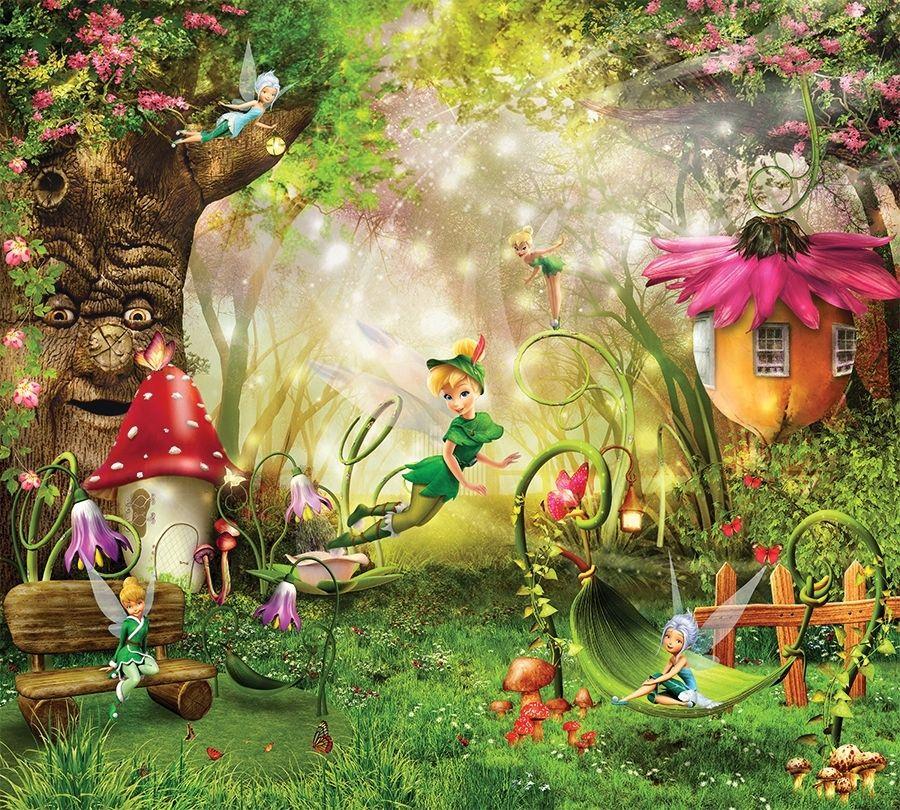 Фотошторы «Феечки в сказочном лесу» вид 1