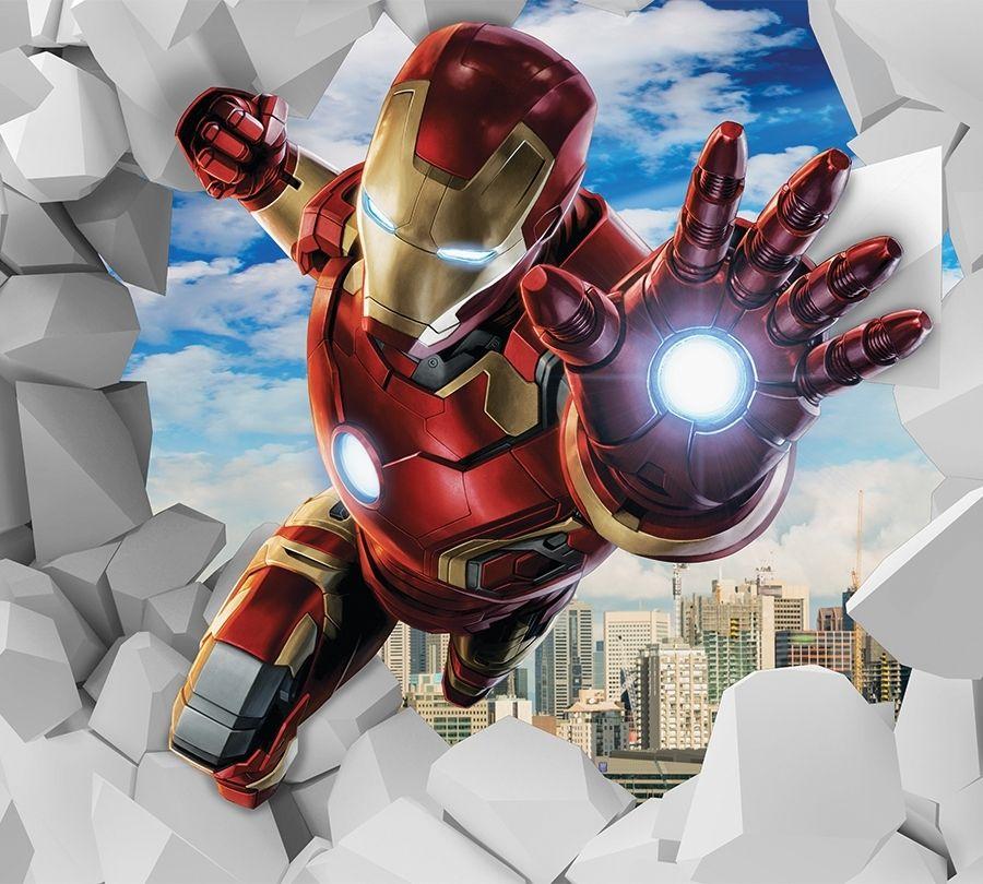 3D Фотообои Фотошторы «Железный Человек»