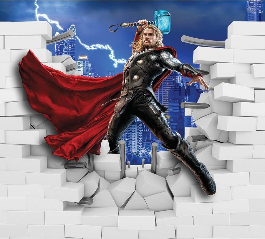 3D Фотообои Фотошторы «Тор из-за стены»