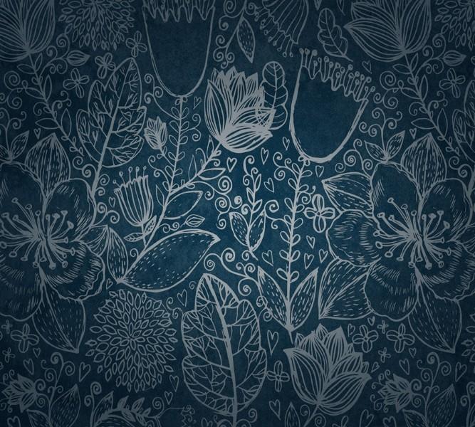 Фотошторы «Вечерние цветы» вид 1