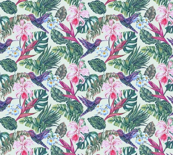 Фотошторы «Колибри с цветами» вид 1