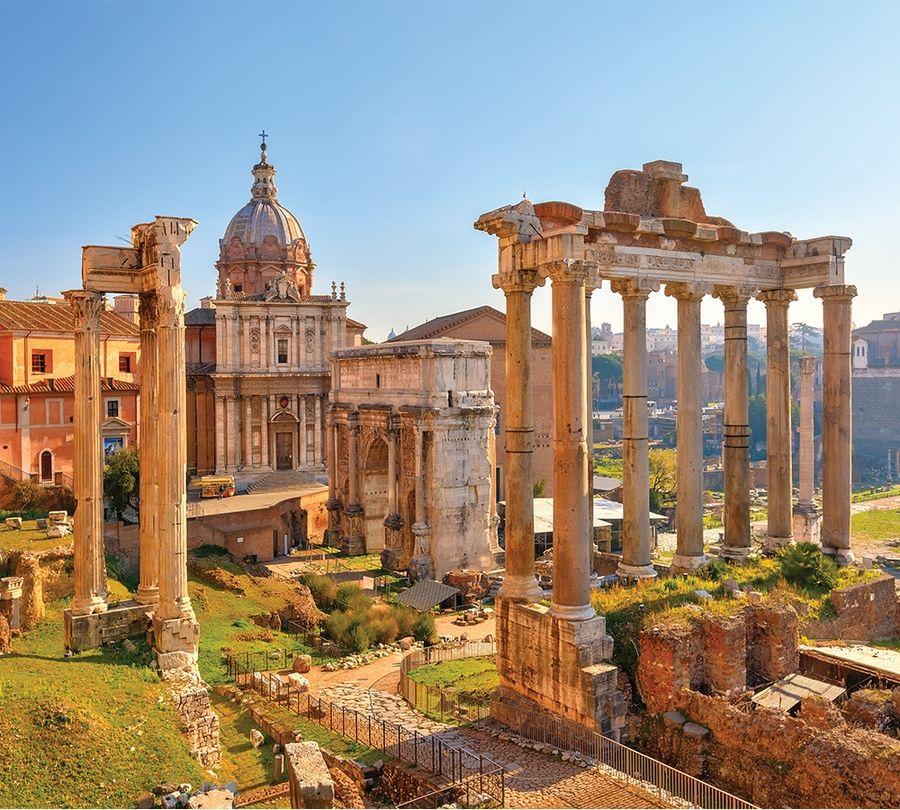 3D Фотообои Фотошторы «Древняя Италия»