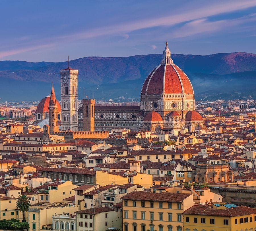 3D Фотообои Фотошторы «Итальянский собор»