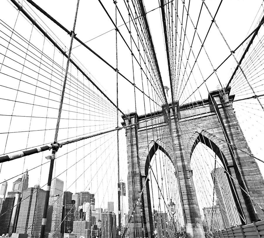 3D Фотообои Фотошторы «Мост Нью-Йорка»