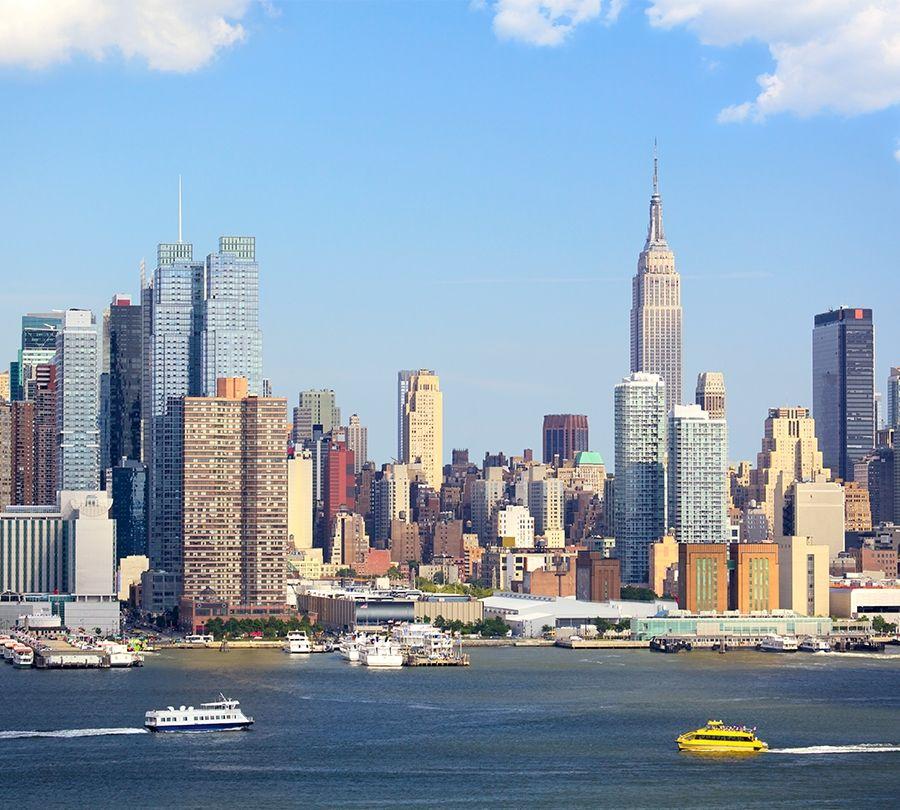 Фотошторы «С видом Нью-Йорка» вид 1