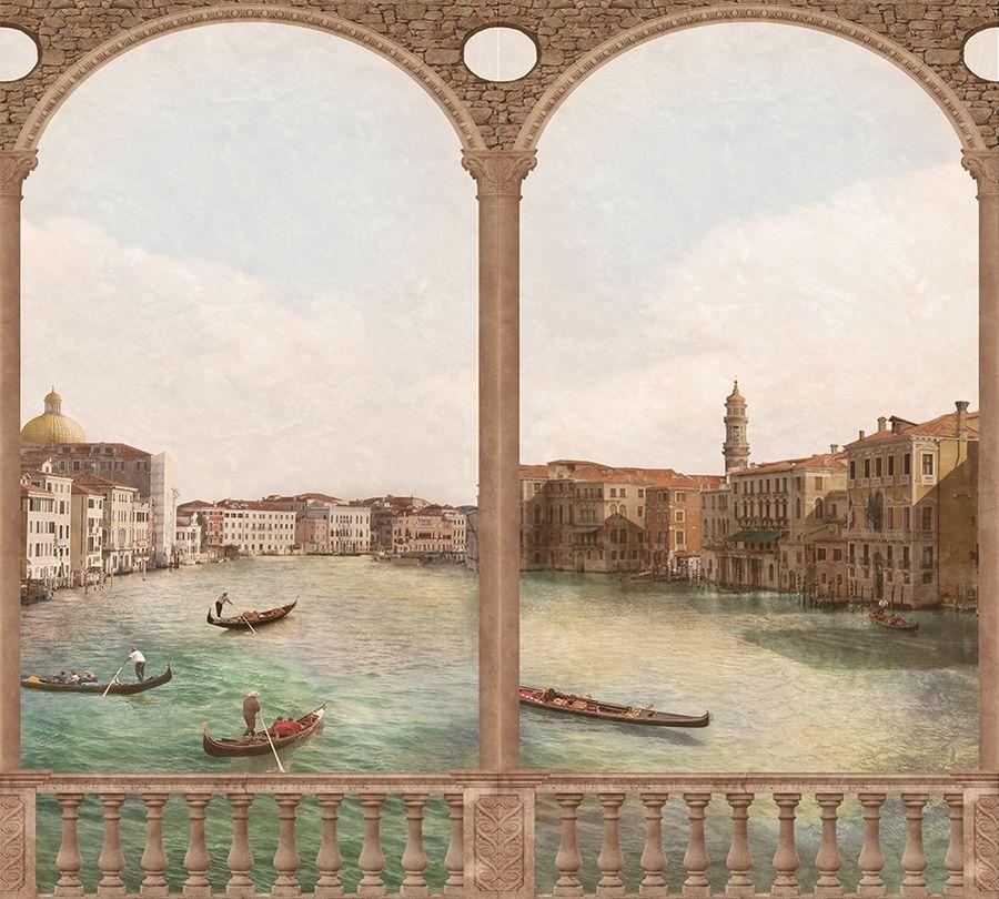 3D Фотообои Фотошторы «Старая Венеция»