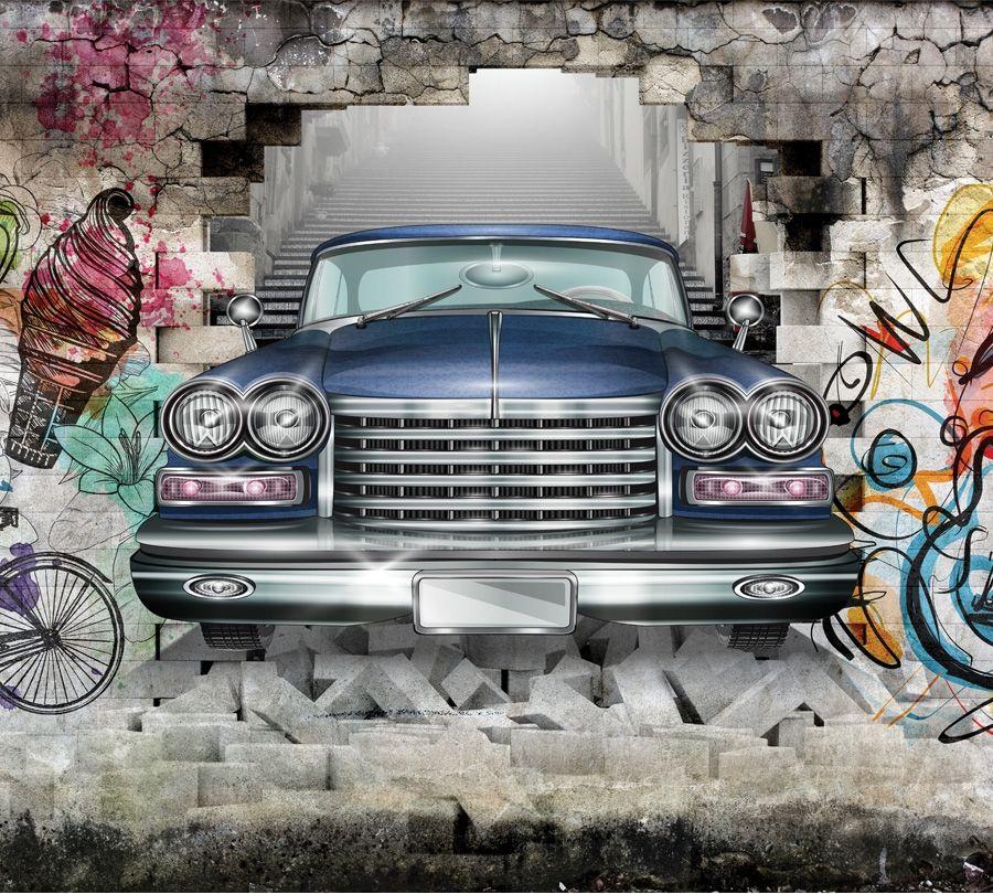 Фотошторы «Автомобиль в подземке»