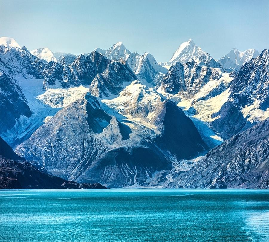 Фотошторы «Горы с заснеженными вершинами»