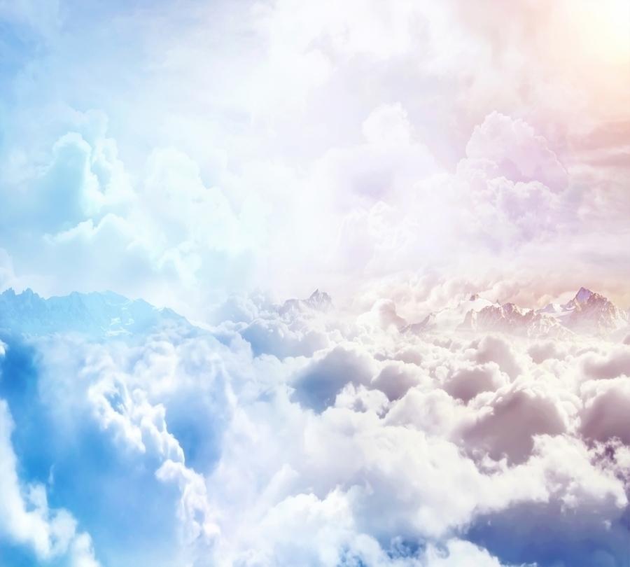 3D Фотообои Фотошторы «Солнце над облаками»