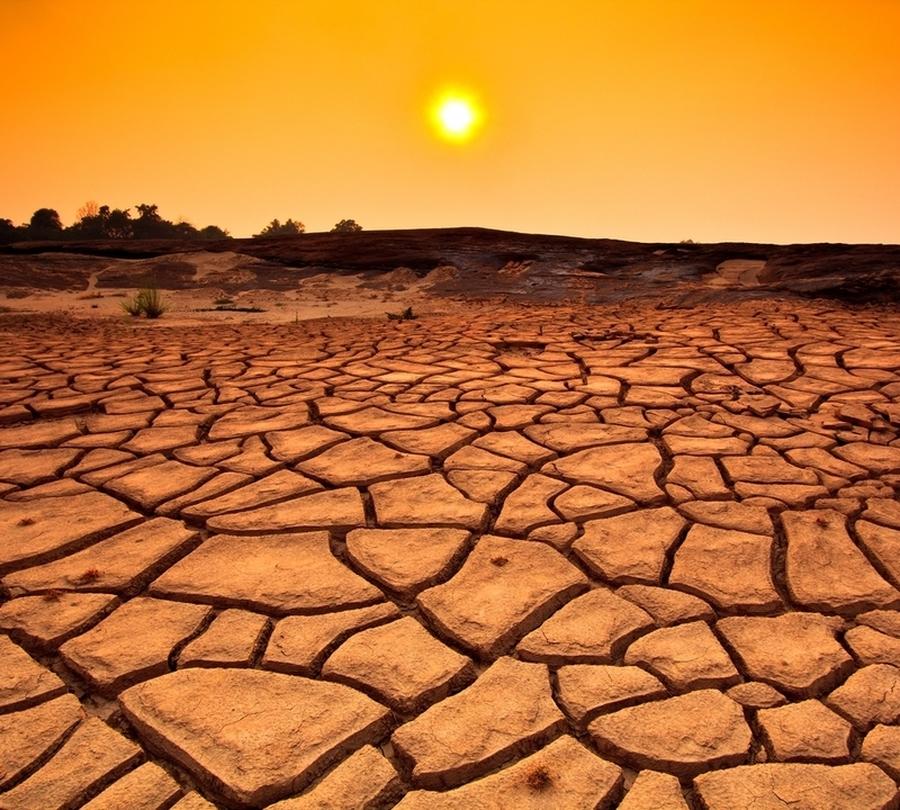 3D Фотообои Фотошторы «Засушливая пустыня»