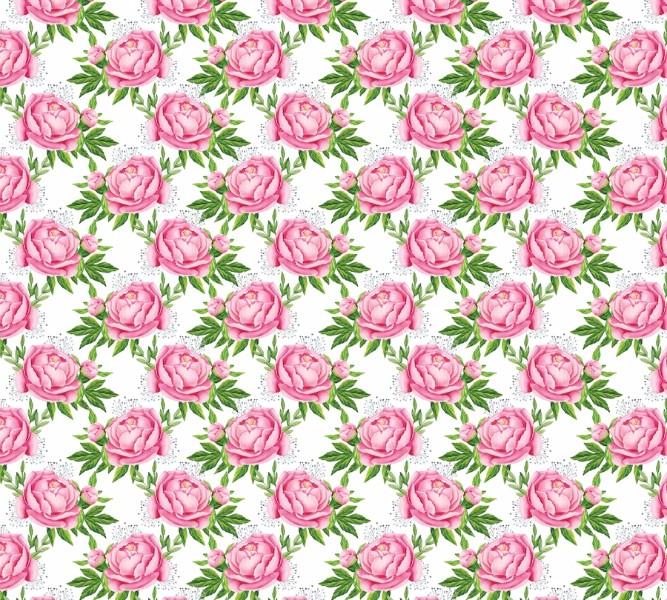3D Фотообои Фотошторы «Розовые пионы»