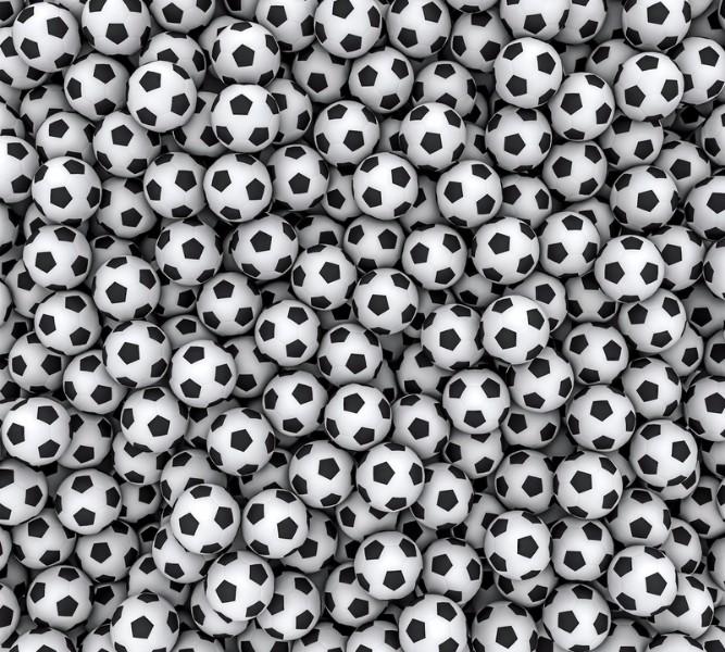 Фотошторы «Множество мячей» вид 1