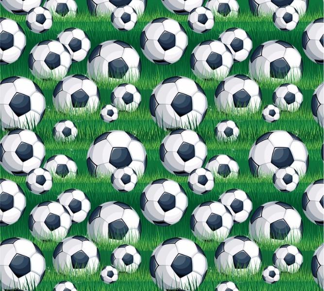 Фотошторы «Мячи на траве»