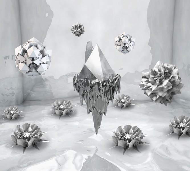 3D Фотообои Фотошторы «Парящие частицы»