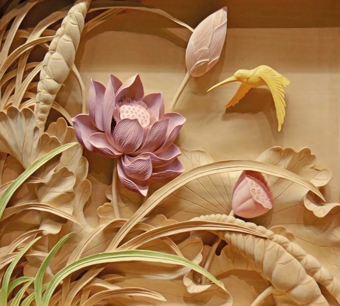 Фотошторы «Цветы с тиснением»
