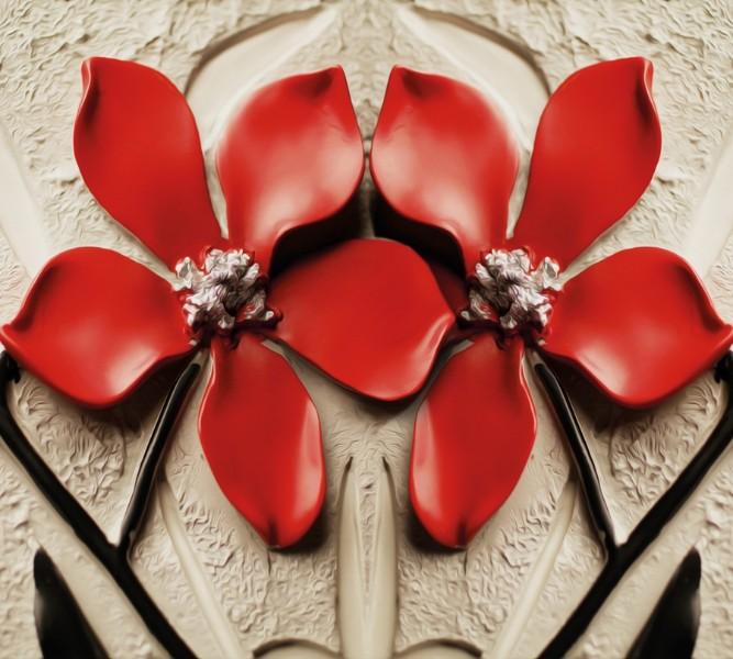 Фотошторы «Цветы на штукатурке»