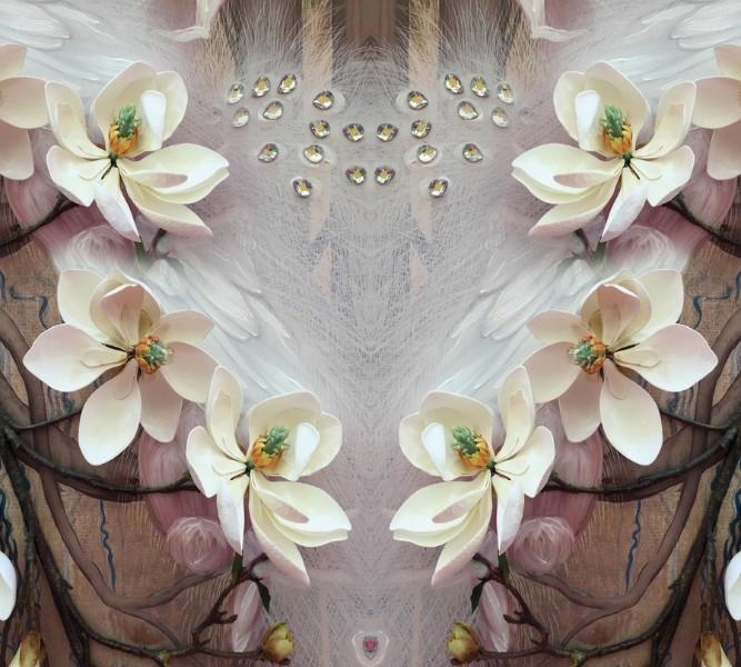 Фотошторы «Объемные цветущие ветки»