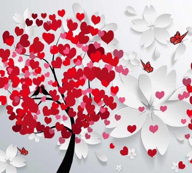Фотошторы «Дерево любви» вид 1