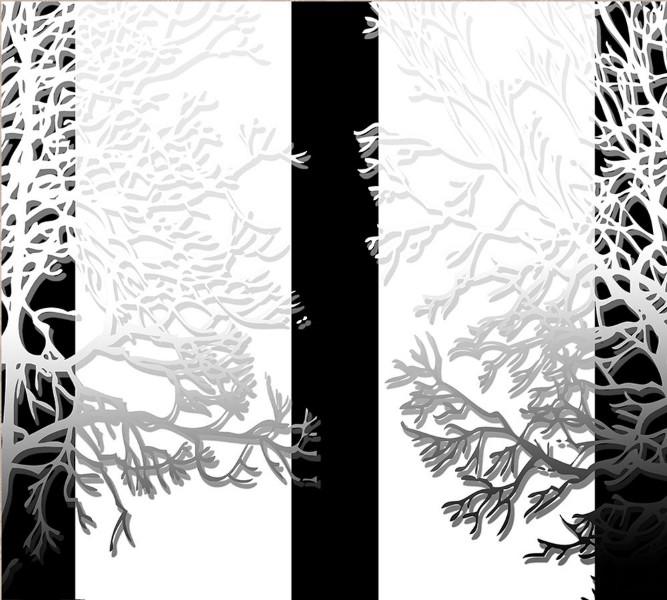 Фотошторы «Силуэты деревьев» вид 1