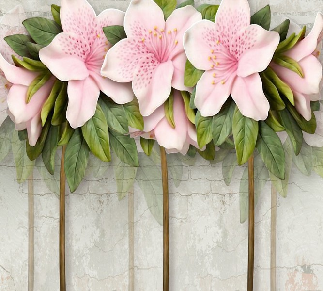 Фотошторы «Бархатистые цветы» вид 1