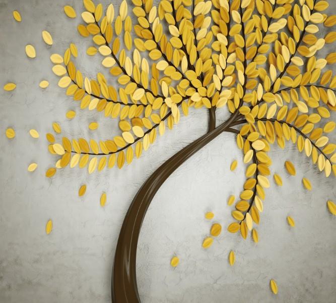 Фотошторы «Осеннее дерево» вид 1