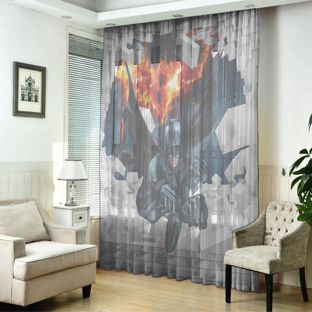 "Оконный 3D тюль ""Бэтмен"" вид 5"
