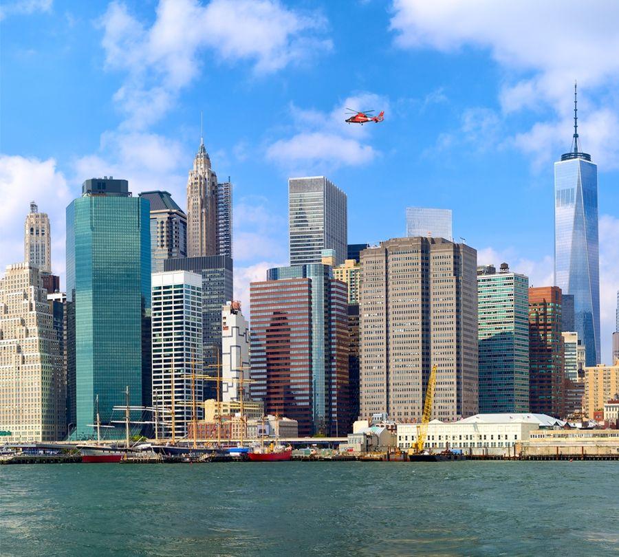 """3D фототюль """"Набережная Нью-Йорка"""" вид 2"""
