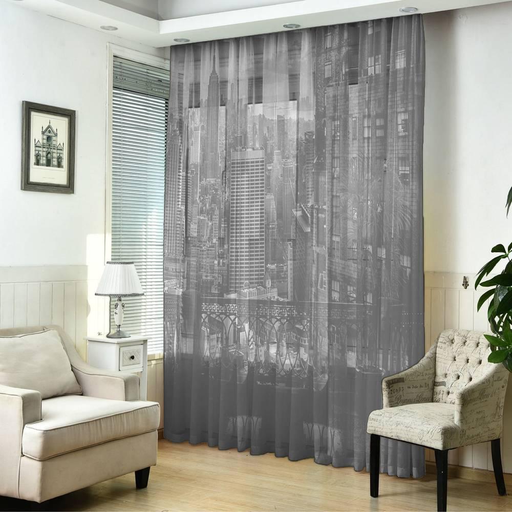 "3D Тюль ""Балкон в Нью-Йорке"" вид 5"