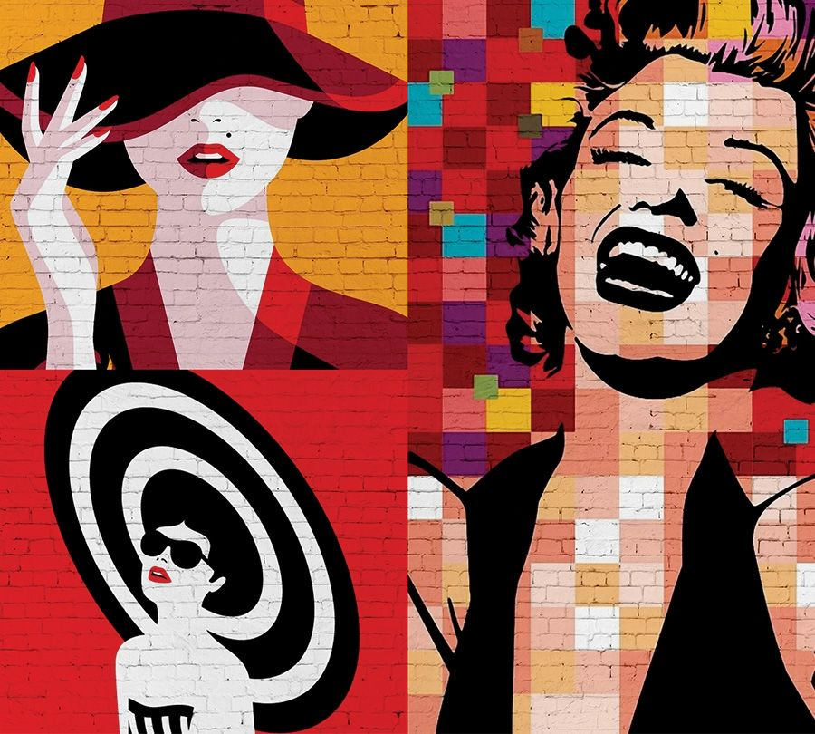 """Фототюль с печатью изображения """"Мэрилин поп арт"""" вид 2"""