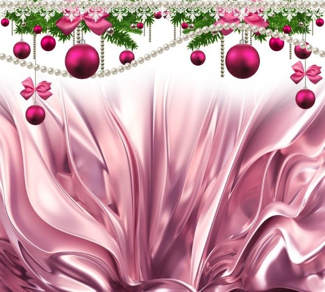 3D Фототюль «Новогодняя роскошь» вид 2