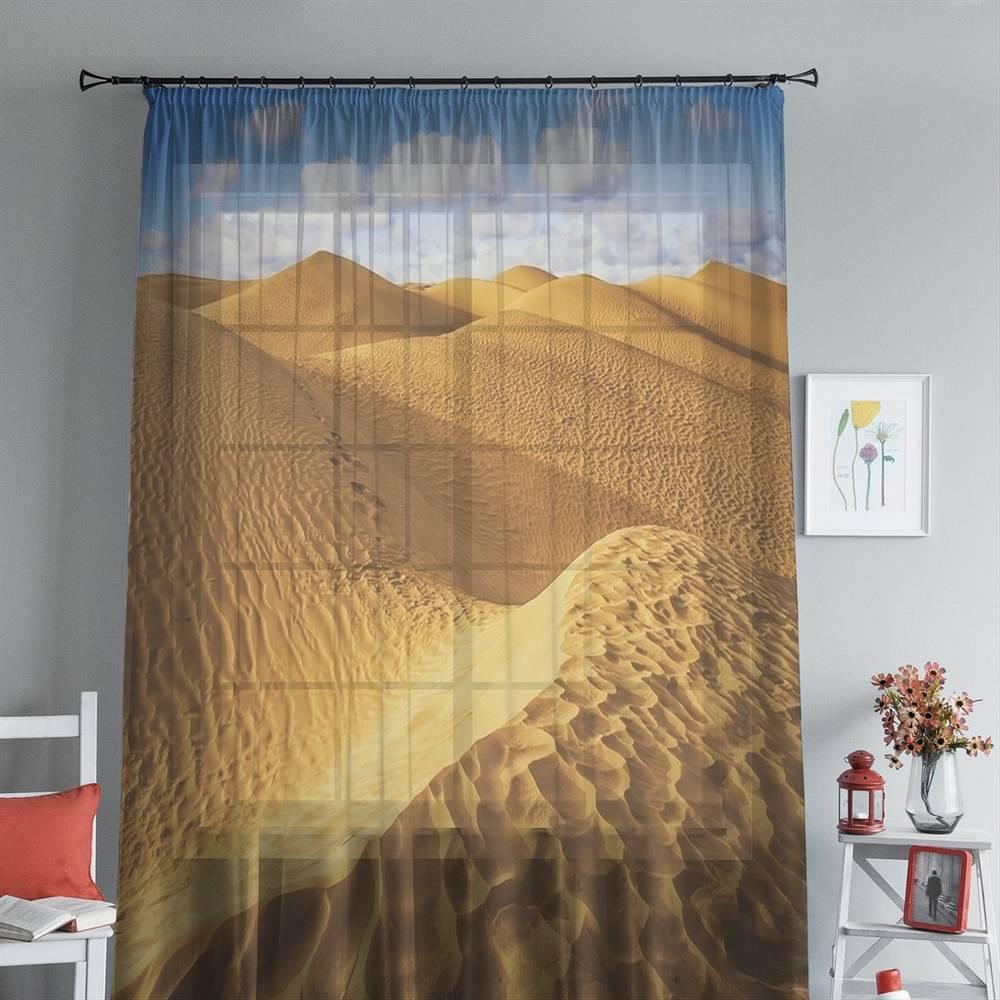 """3D тюль """"Пески пустыни"""" вид 3"""