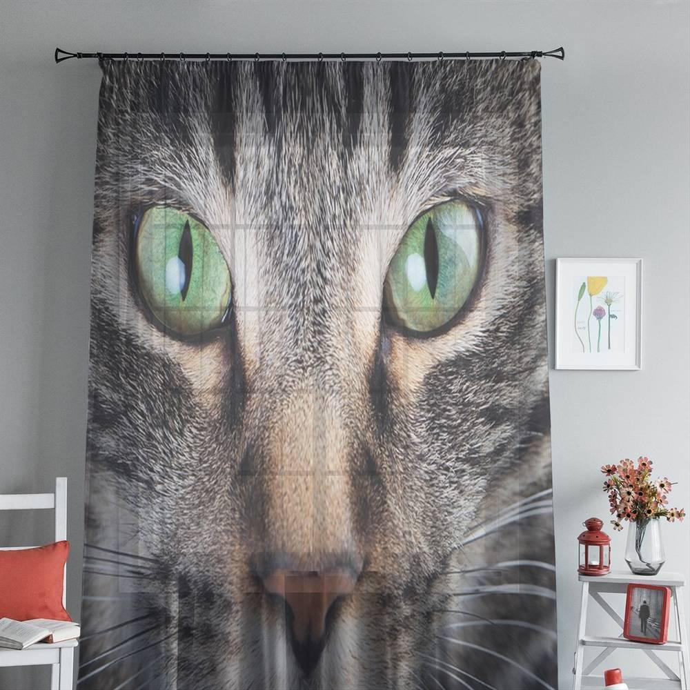 """3D Тюль на окна """"Кошачий взгляд"""" вид 4"""