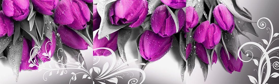 Модульная картина «Букет тюльпанов»
