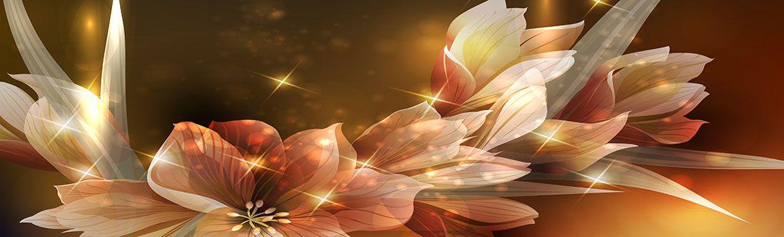 Модульная картина «Цветы в сиянии»